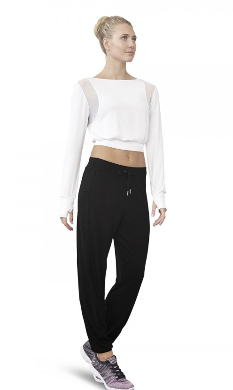 Small and Medium Dance Top Long Sleeve by Bloch Adult Petite